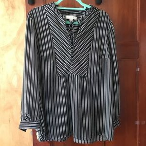 Loft plus striped blouse